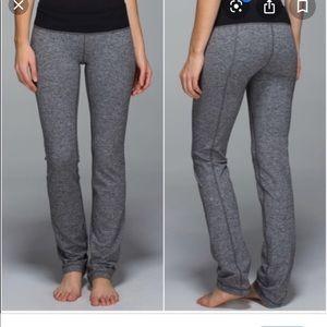 Lululemon Straight Up Pants Heathered Deep Coal